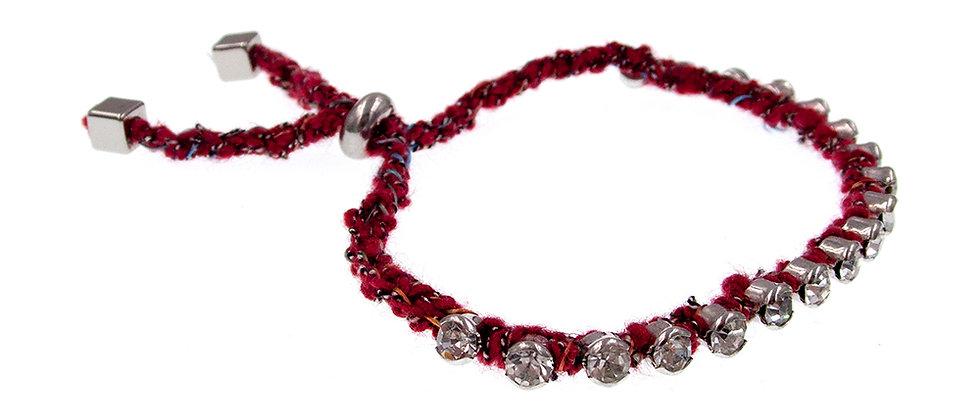 Amelie Jewelry Crystal Friendship Bracelet Red
