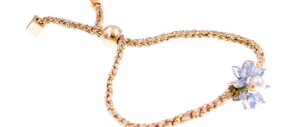 Amelie Jewelry Abra Friendship Bracelet Blue