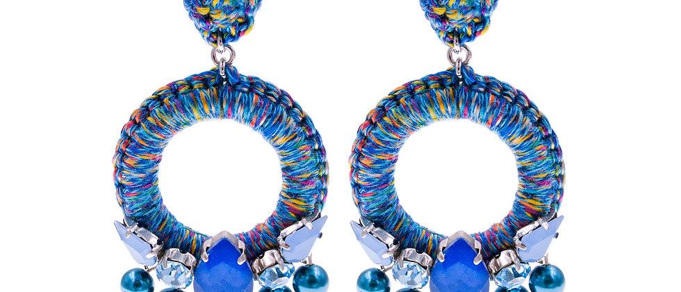 Amelie Jewelry Aaliyah Earrings Blue