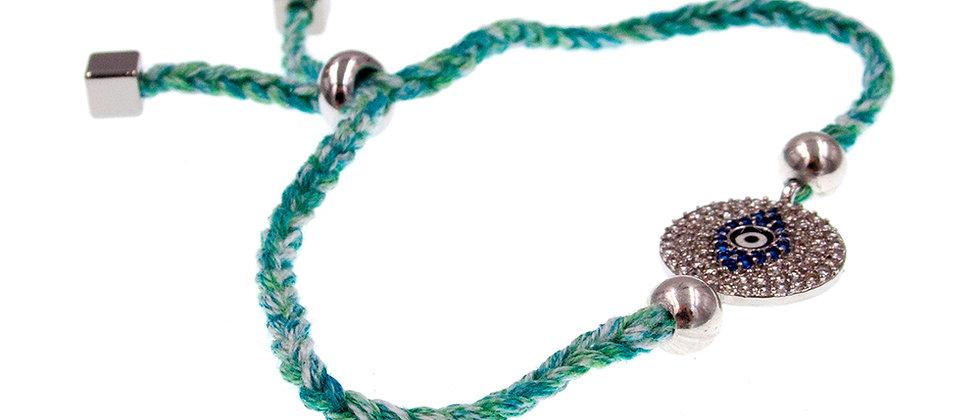 Amelie Jewelry Devil's Eye Friendship Bracelet Green