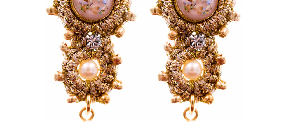 Amelie Jewelry Bathsheba Earrings Pink