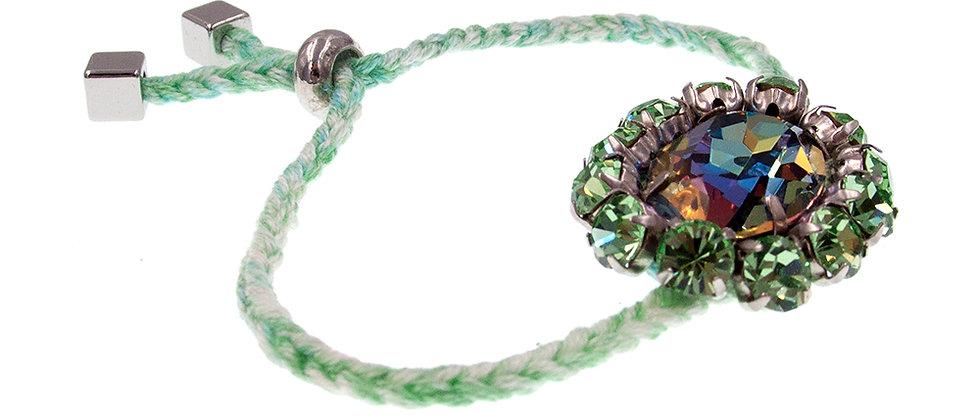 Amelie Jewelry Oval Crystal Friendship Bracelet Green