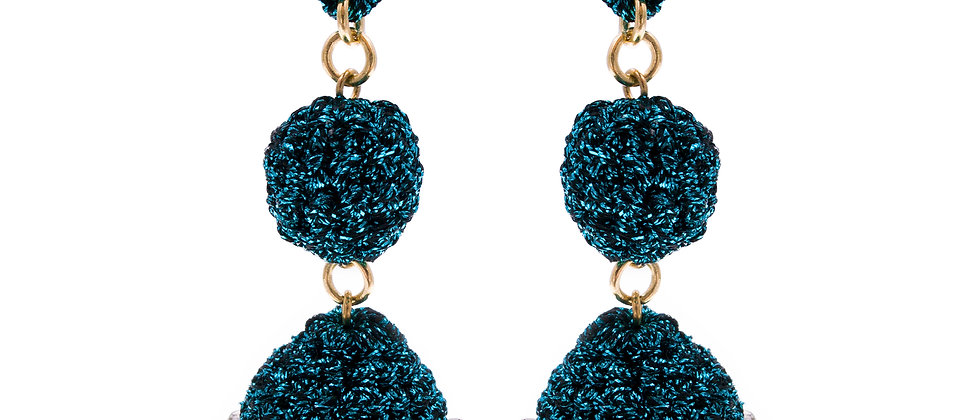 Amelie Jewelry Drusilla Earrings Blue