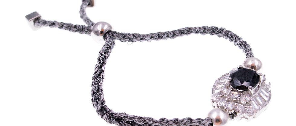 Amelie Jewelry Amber Bracelet Grey/Black
