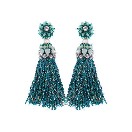 Abela Earrings Green