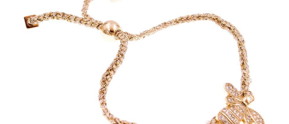 Amelie Jewelry Abra Friendship BracGolden Bee Friendship Bracelet Gold