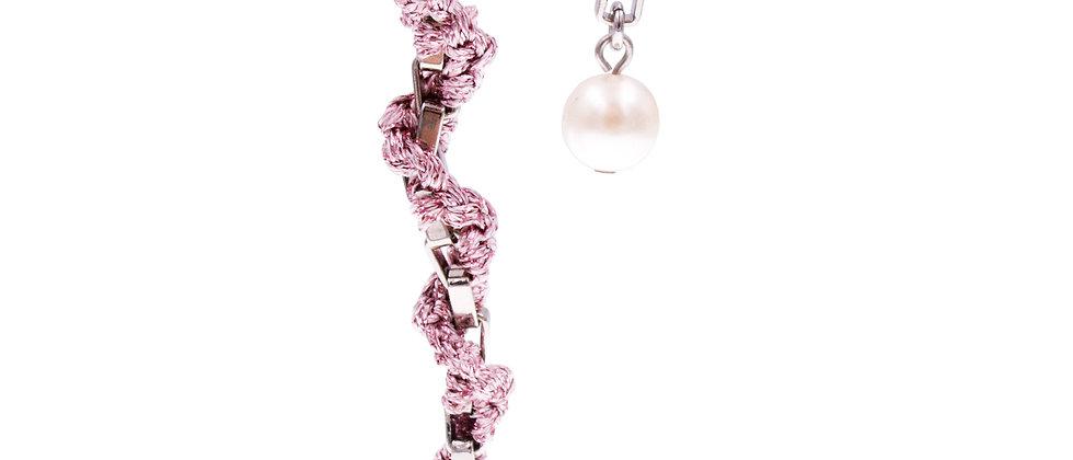 Amelie Jewelry Pearl Twisted Earrings Pink
