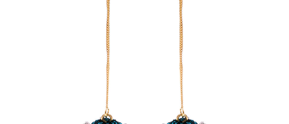 Amelie Jewelry Zilpah Earrings Blue