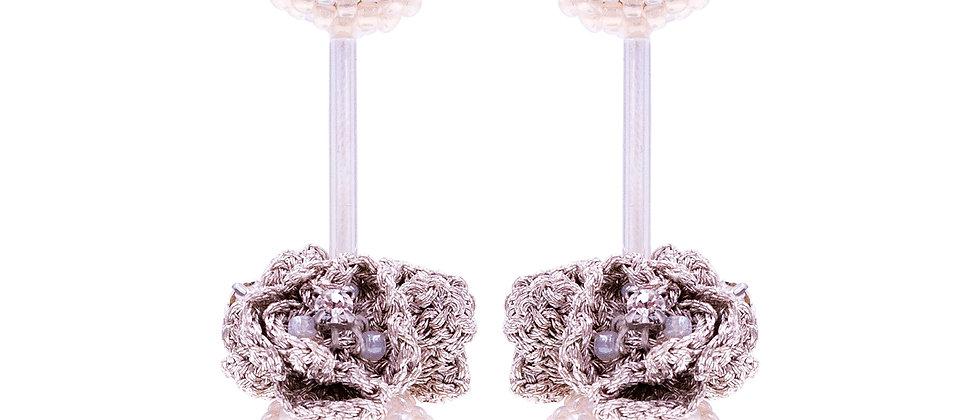Isobel Earrings Beige