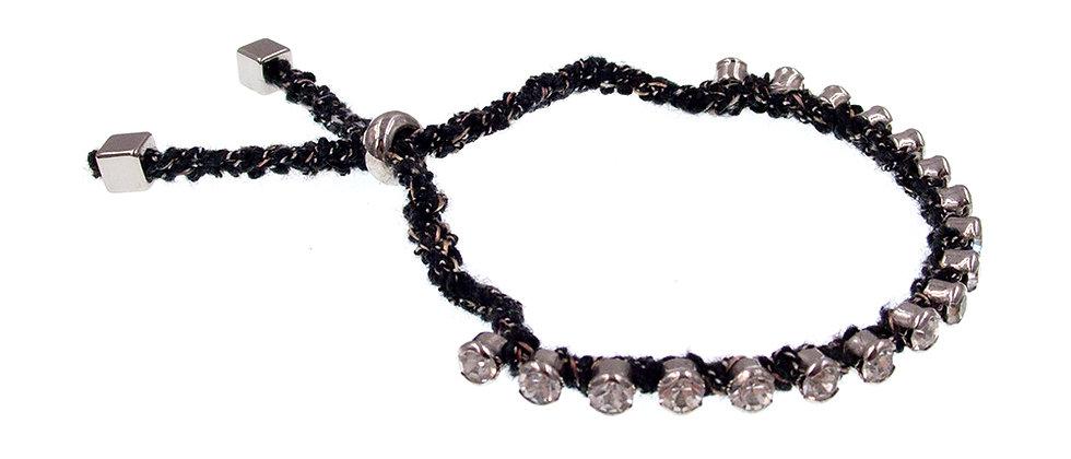 Amelie Jewelry Crystal Friendship Bracelet Black