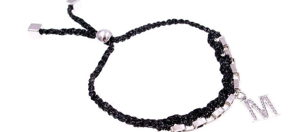 """Amelie Jewelry Initial """" M """" Friendship Bracelet"""