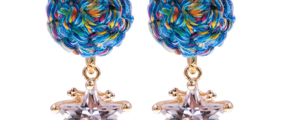 Amelie Jewelry Zillah Earrings Blue