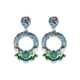 Aaliyah Earrings Green