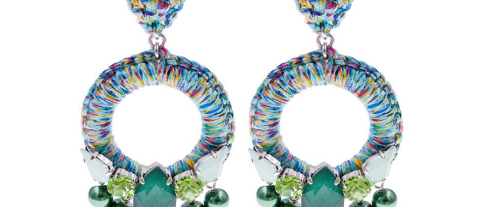 Amelie Jewelry Aaliyah Earrings Green
