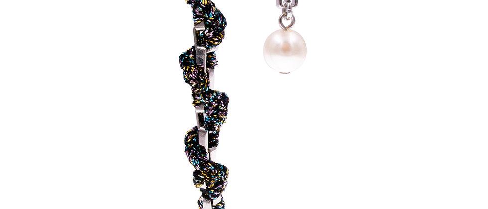 Amelie Jewelry Pearl Twisted Earrings Rainbow