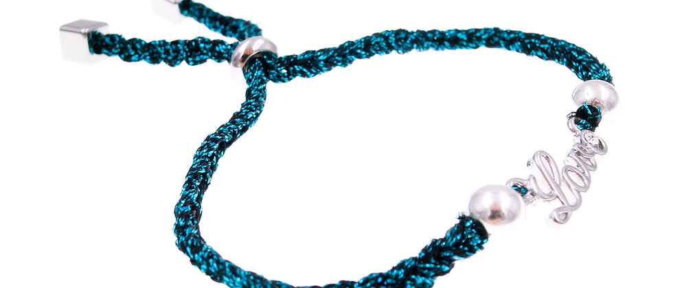 Amelie Jewelry Love Message Friendship Bracelet Blue