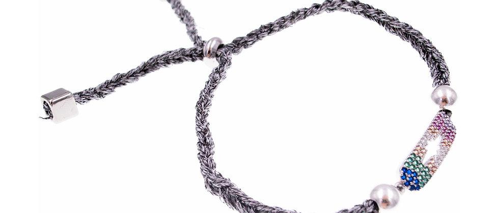 """Amelie Jewelry Zirconia """"Small Rainbow Star"""" Friendship Bracelet"""