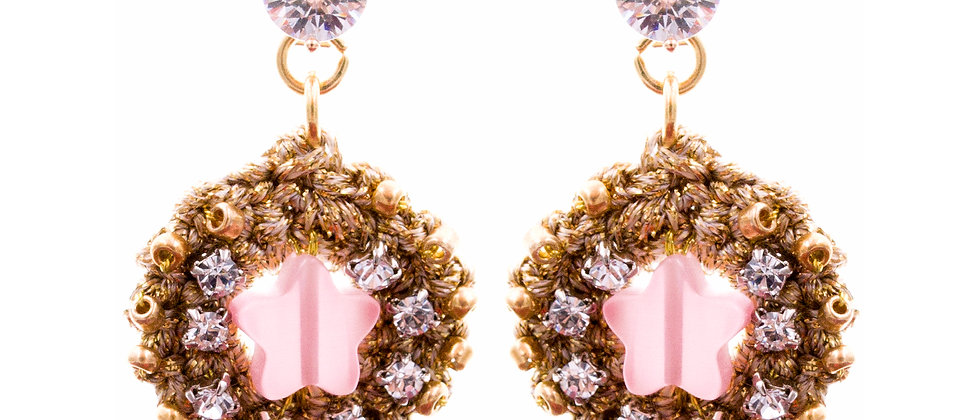 Amelie Jewelry Lydia Earrings Pink