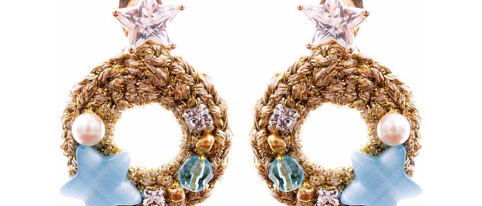 Amelie Jewelry Sapphira Earrings Blue