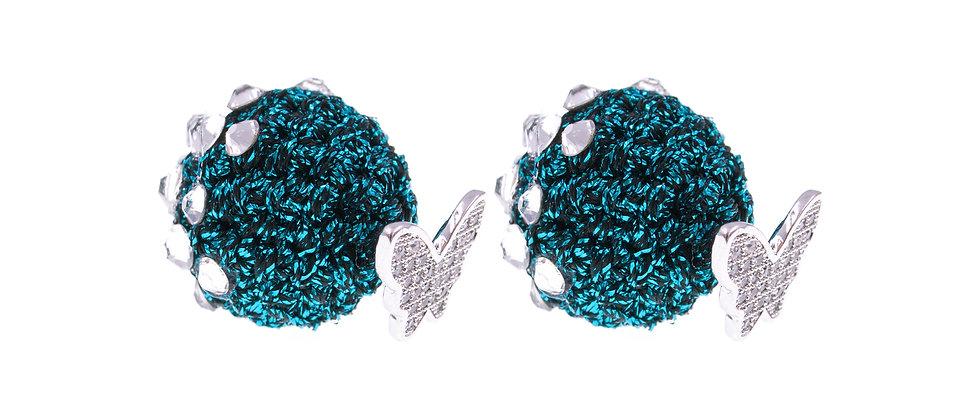 Amelie Jewelry Phoebe Earrings Blue