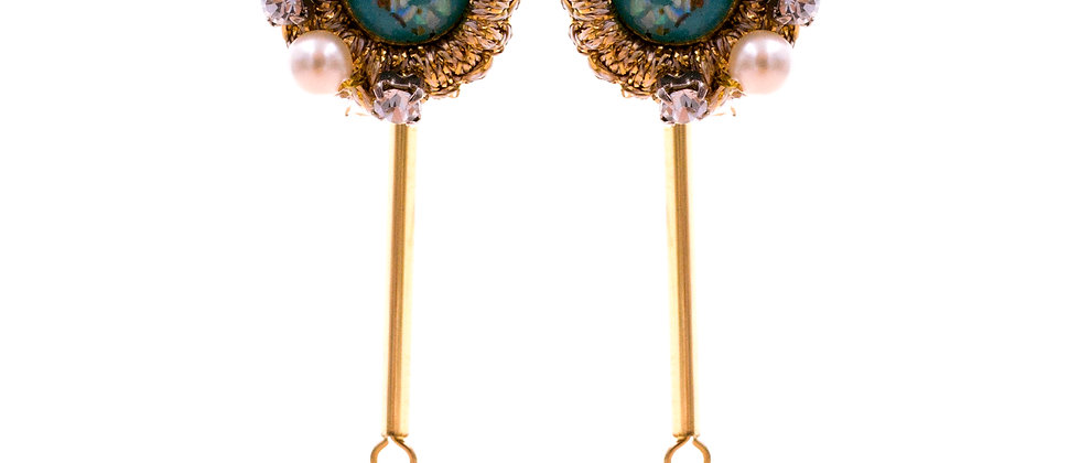 Amelie Jewelry Damaris Earrings Blue