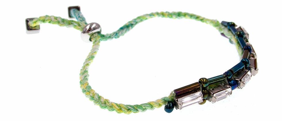 Amelie Jewelry Baguette Crystal Friendship Bracelet Green