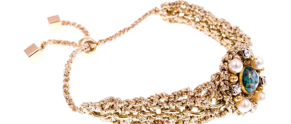 Amelie Jewelry Galilee Friendship Bracelet Blue