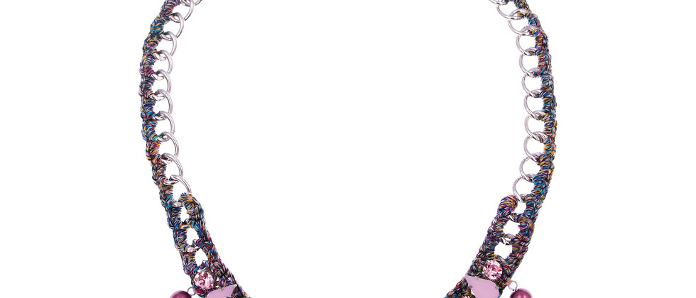 Amelie Jewelry Aaliyah Necklace Pink
