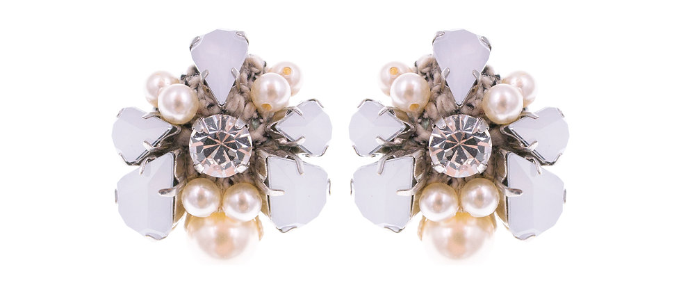 Hannah Earrings Beige