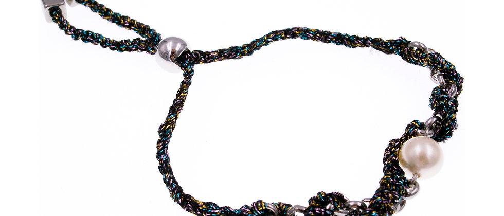 Amelie Jewelry Pearl Twisted Friendship Bracelet Rainbow