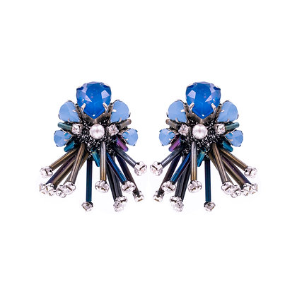 Theodora Earrings Blue