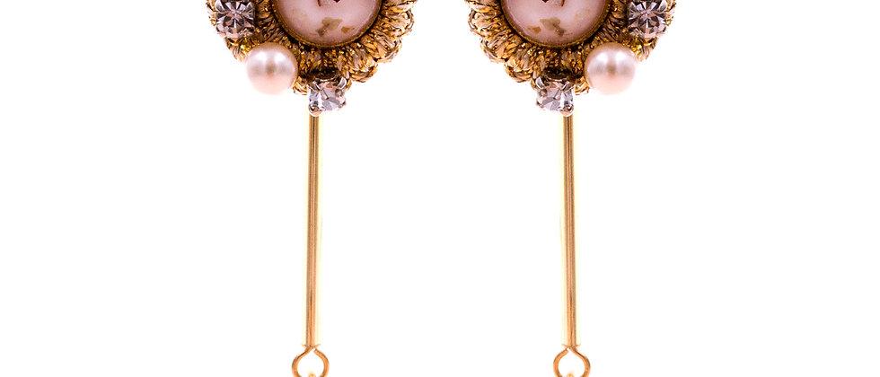 Amelie Jewelry Damaris Earrings Pink