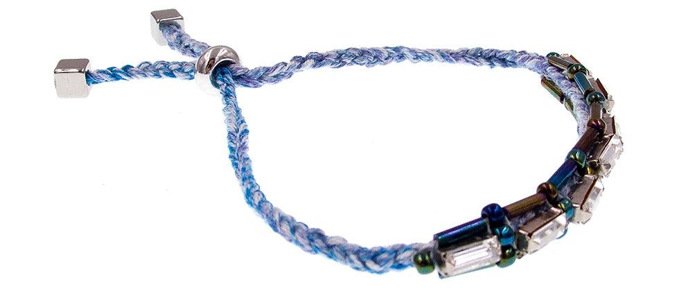 Amelie Jewelry Baguette Crystal Friendship Bracelet Blue
