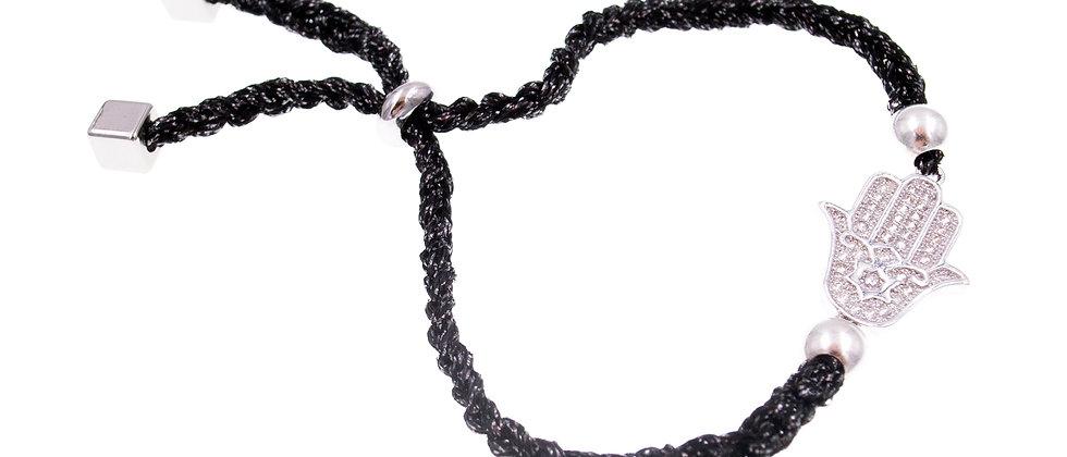 """Amelie Jewelry Zirconia """"Fatima Hand"""" Friendship Bracelet"""
