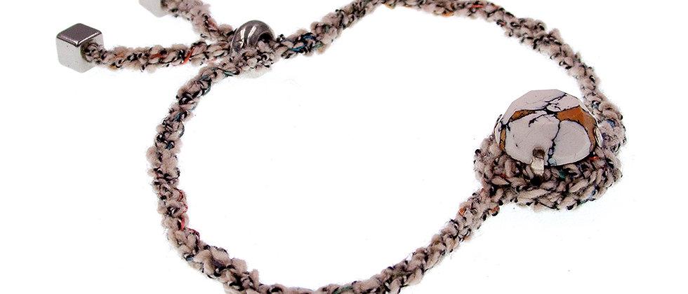 Amelie Jewelry Round Glass Stone Friendship Bracelet Beige