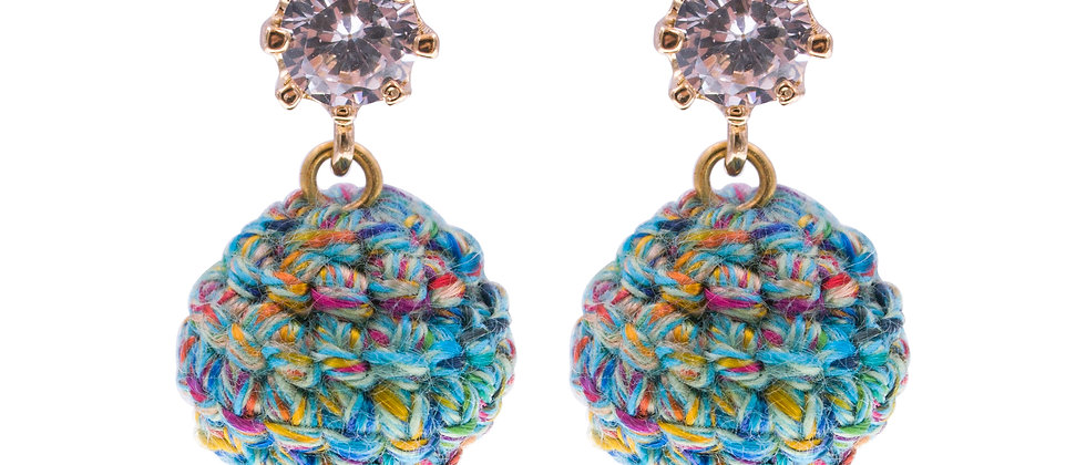 Amelie Jewelry Magdalen Earrings Green