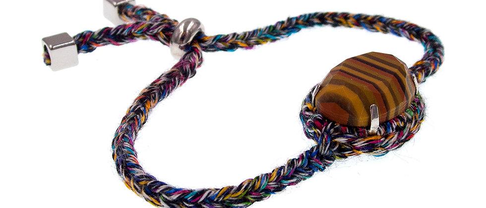 Amelie Jewelry Oval Glass Stone Friendship Bracelet Rainbow