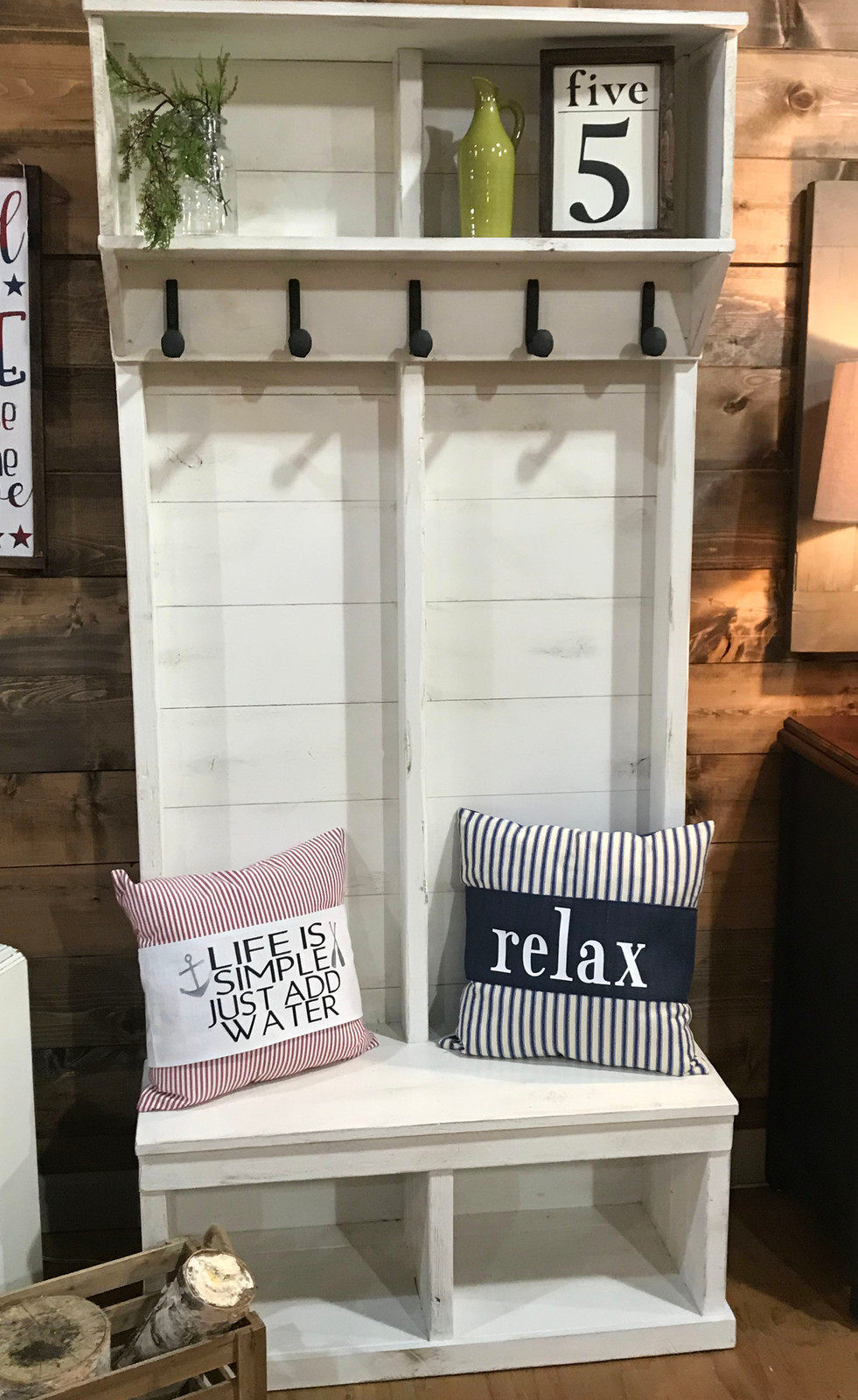 This Locker Is Made From Reclaimed Wood And Hooks Railroad Spikes Perfect For Smaller Entrys Or Mud Rooms 36 X15 5 X80 H You Can Custom Make To A