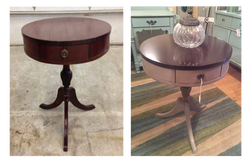 Drum style table