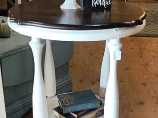 Vintage Round Accent Table