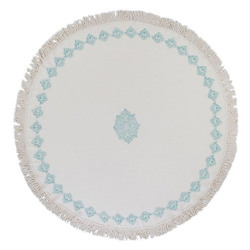 Mint Round Beach Blanket