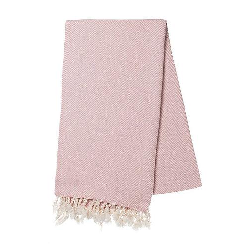 Blush Herringbone Turkish Towel