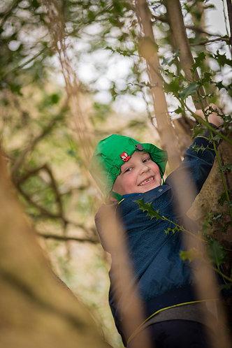 'Climbing higher' Green Hat