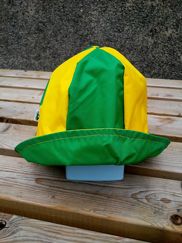 Brilliant Green and Yellow Hat
