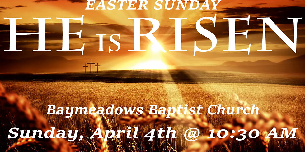 Easter Service with Egg hunt for the kids