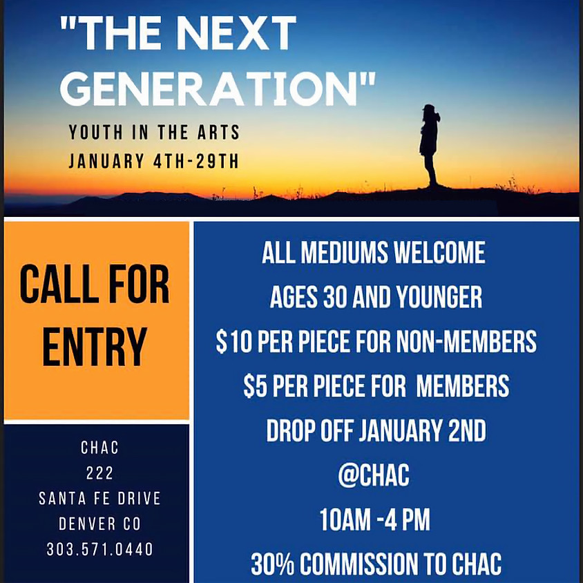 Call for Entry - Youth in the Arts - January Exhibition