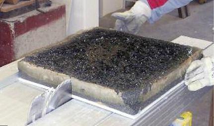 Пеностекло после пожарных испытаний
