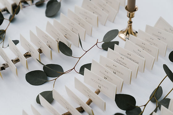 Wedding place cards seating for ceremony