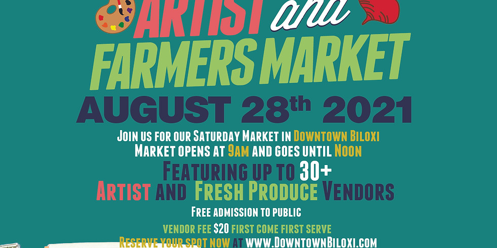 Gulf Coast Produce Artist & Farmers Market - August 2021