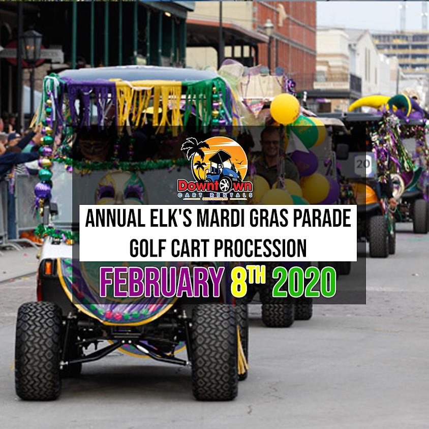Annual Elk's Mardi Gras Parade - Golf Cart Procession